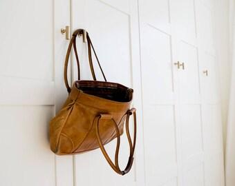 Vintage Leather Boho Shoulder Bag / Leather Bag with Straps / Shoulder Bag Tote / Shoulder Bag with Handle / Desert Boho Bag / Leather Purse