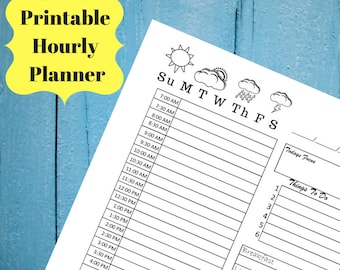 Daily Hourly Planner 2018 Daily Planner habit tracker