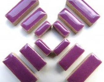 Ceramic Rectangle - Purple - 50g / 1.75 oz(approx. 60 pieces)