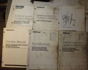 14 various Caterpillar service manuals- 3306, 3406  etc.