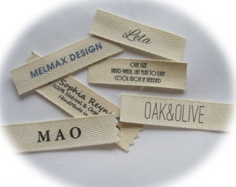 TEXT ONLY Labels. Do not send a Logo or Graphic for these name labels.