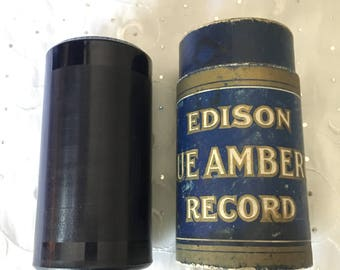 Vintage Edison Blue Amberol 4 minute Cylinder Record 4482 Havana Moon Violin Solo Rae Ball