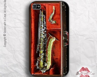 Saxophone... or is it a... Sax-iPhone - iPhone 4/4S 5/5S/5C/6/6+ and now iPhone 7 cases!! And Samsung Galaxy S3/S4/S5/S6/S7