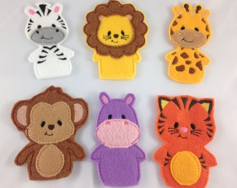Jungle Animals Finger Puppets