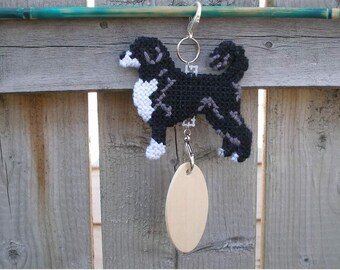 Portuguese Water Dog in retriever clip, art home decor hand anywhere crate tag hanger, Magnet option