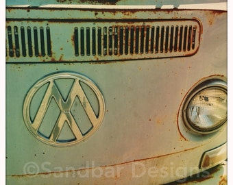4 x 4 photo card-Inverted VW bus
