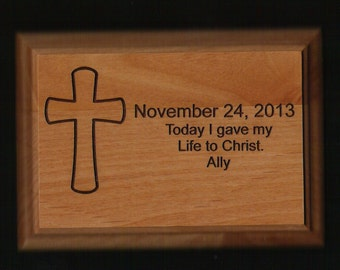 "5"" x 7"" Laser Engraved wood  Dedication Plaque"