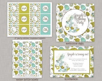 Easter Birthday, Easter Birthday Decorations, Easter Birthday Party Package, Printable