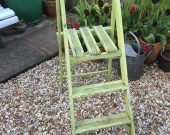 Vintage Wooden Painted Steps/Step Ladder