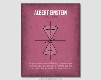 Notable Nerd Poster - Albert Einstein - Wall Art Print - Available as 8x10, 11x14 or 16x20