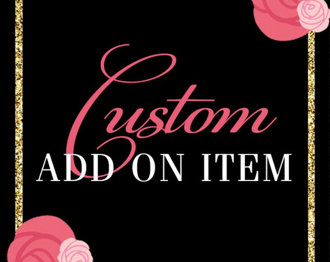 ADD ON Menu Card to Match any Design in the Shop
