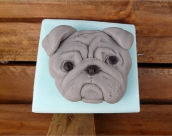 Pug Soap: A Smug Pug Face Guest Soap Bar - Perfect Gift for the Pug-Lover(s) in your life! You choose colors/scent!