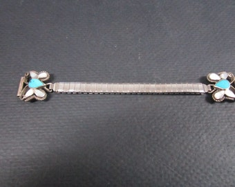 Watch band Turquoise and Mother of Pearl