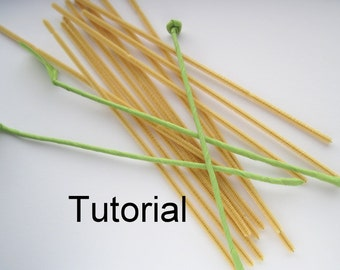 Tutorial : How to make ffflower stems
