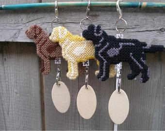 Labrador Retriever lab dog home decor hang anywhere crate tag ornament, Choose your color, Magnet option