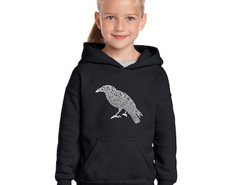 Girl's Hooded Sweatshirt - Created Using the First Few Lines from Edgar Allen Poe's The Raven