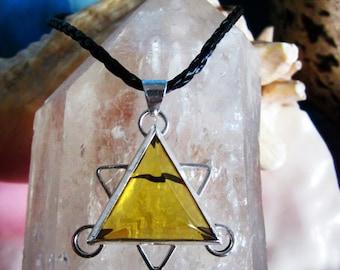 Pendant design Triangle / Star made in silver