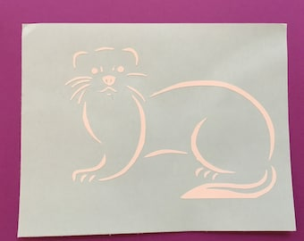Ferret decal, ferret iron On, ferret, ferrets, animal