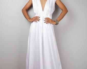 White Maxi Dress - Long White dress    : Oriental Secrets Collection II