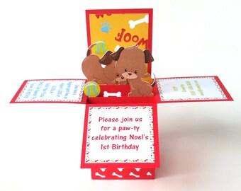 Dog Birthday, Dog Birthday Invitation, Puppy Party, Puppy Birthday, Puppy Birthday Invitation, Dog Invitation, Puppy Invitation, Dog Party