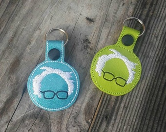 Bernie Sanders Feel the Bern Key Chains your choice of sparkle blue or lime green