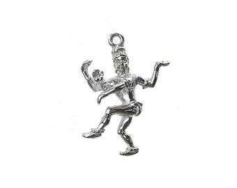 Sterling Silver Hindu God Shiva Charm For Bracelets