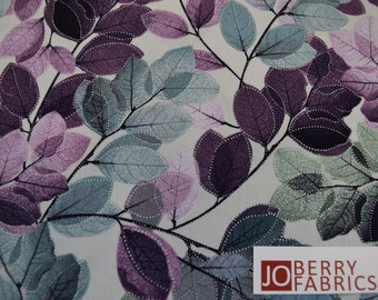 Sheer Leaves from the Essence of Pearl Collection by Maria Kalinowske for Kanvas with Benartex, Fabric by the Yard, JoBerry Fabrics.