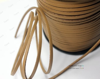 10 Yards 3mm Coated Faux Suede Leather, Camel Coated Suede Leather CS3M172