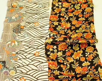 Vintage Japanese Silk Kimono Fabric | Patchwork Lot 109