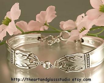 Silver Spoon Bracelet DANISH PRINCESS Jewelry Vintage, Silverware, Gift, Anniversary, Wedding, Birthday