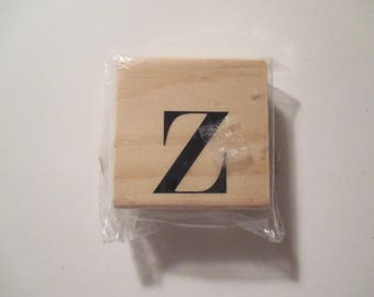 Rubber Stamp-Letter Z-Wood Mounted Stamp-Paper Crafts-Journaling-Card Making-Scrapbooking-Gift Tag Making-Pre-Owned