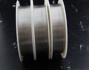 Silver plated wire 0, 4mmx 12 meters