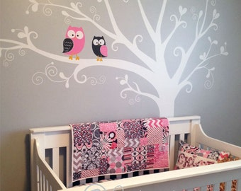 Wall Decals - Owls in tree Wall Decal