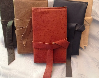 Chestnut hand-crafted leather covered journal