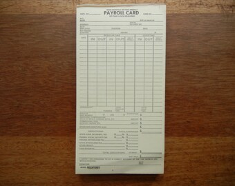 Vintage Payroll Cards