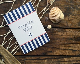 Nautical - A6 Thank You Cards with Envelopes