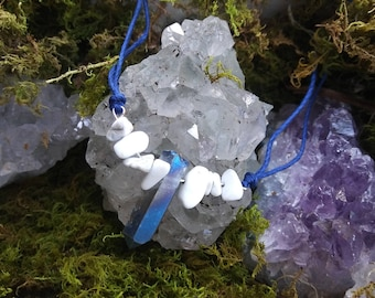 Blue Howlite Beaded Becklace