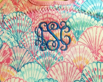 Lilly Pulitzer inspired Lunch tote, Lunch tote, monogrammed lunch tote, lunch box, lunch bag, insulated lunch bag, lunch cooler, cooler