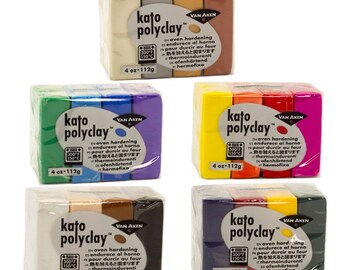 Kato polymer clay kits get 4 - 1oz blocks in 4 colors now you can get a big variety of colors in a little punch choose from one of 5 sets
