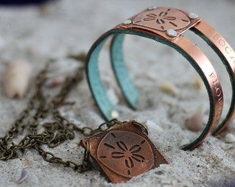 Copper Jewelry Gift Set for Bridesmaids - Bridesmaid Beach Jewelry - Copper Wedding - Beach - Maid of Honor - Bridesmaid Jewelry Gift Ideas