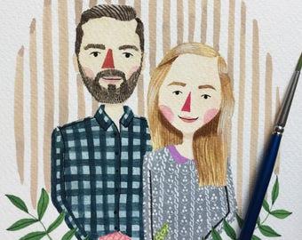 Custom Portrait, Couple Portait, Couple Illustration, Wedding Gift, Anniversary Gift, Digital Portrait, Couple Portraits, Fathers Day