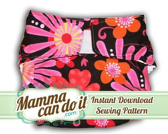 Cloth Diaper Pattern AIO or Fitted- INSTANT Download