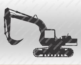 Excavator in svg, dxf, png,format. Instant download for Cricut Design Space and Silhouette Studio