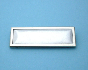 Silver Rectangular Pin Setting Frame Mounting 142ST