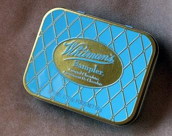 WHITMANS Chocolate SAMPLER Turquoise  Tin