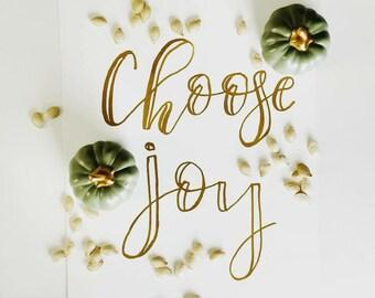 Choose Joy in Gold Glitter