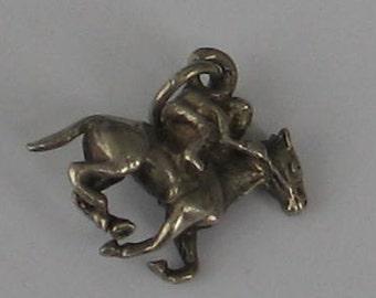 Vintage Sterling  Horse  and Rider Charm