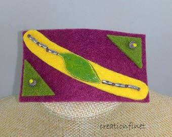 hair clip 6 cm jewel