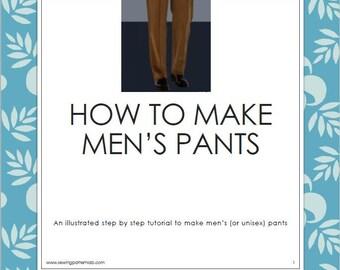 Men's trousers, tutorial in English, plus 3 bilingual patterns (italian/english)