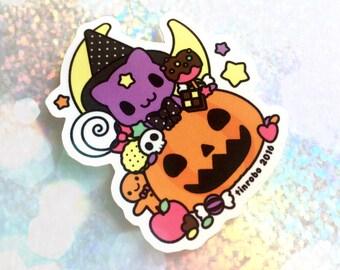 Spooky Kitty Die-Cut Vinyl Sticker - 2 for 1!